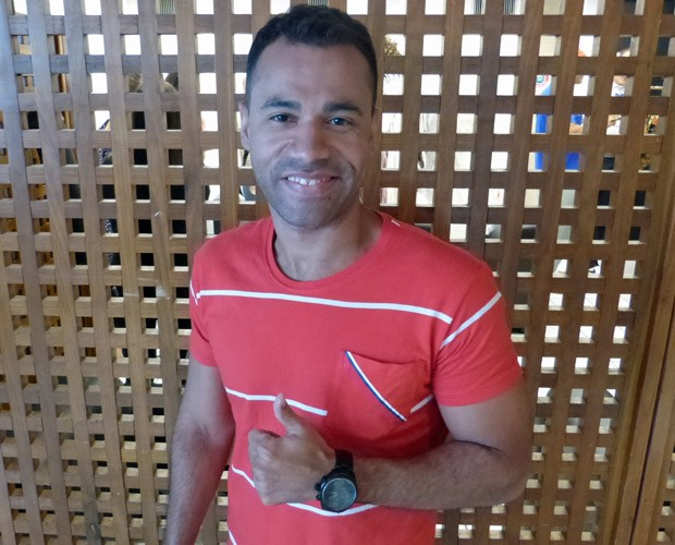 Rodrigo Sant'anna nos bastidores do Caldeirão do Huck (Foto: Caldeirão do Huck / TV Globo)