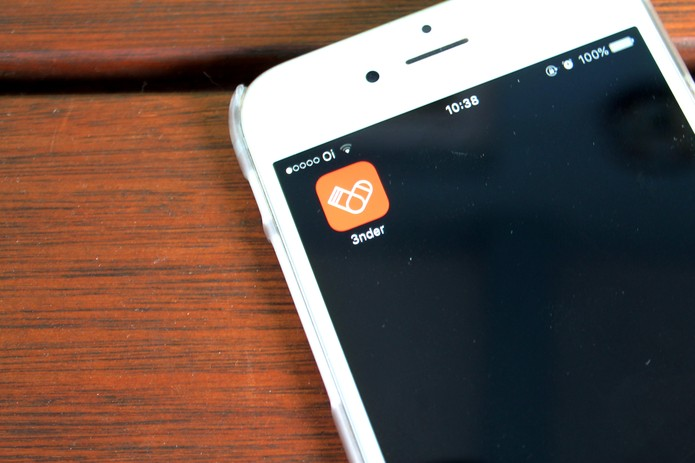 O app 3nder ajuda a promover encontros sexuas (Foto: Raíssa Delphim/TechTudo)