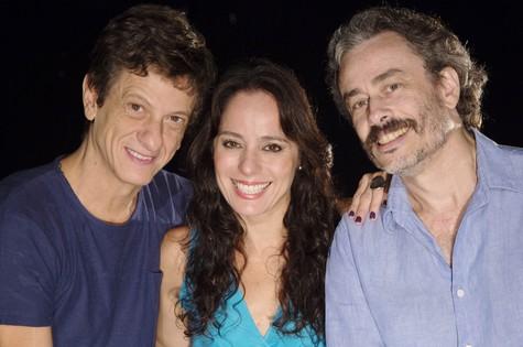Ernesto Neto, Claudia Mauro e Guilherme Fiuza (Foto: Divulgação)