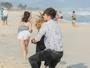 Diana é atacada por fã de Léo Régis durante passeio na praia