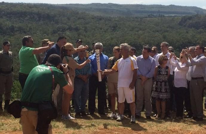 Tocha olímpica chega a Goiás (Foto: Guilherme Gonçalves/ GloboEsporte.com)