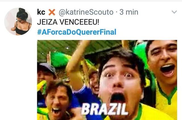 Os internautas vibraram com a vitória de Jeiza (Paolla Oliveira) no UFC (Foto: Reprodução)