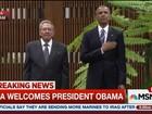 Raúl Castro recebe Obama no Palácio da Revolução, em Havana