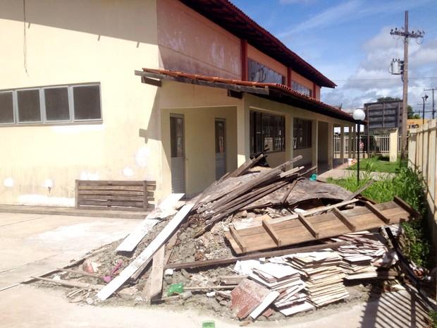 Reforma de prédio pronto tem nova data prevista para julho, diz prefeitura (Foto: Abinoan Santiago/G1)