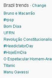 Trending Topics do Brasil (Foto: Reprodução)