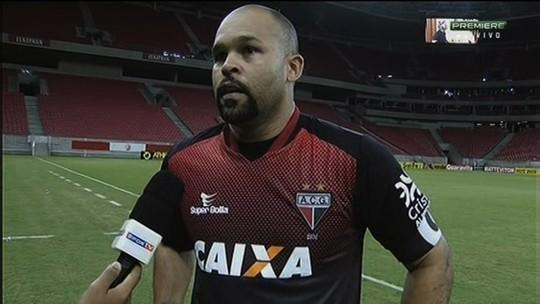 Márcio valoriza ponto conquistado pelo Atlético-GO contra o Náutico