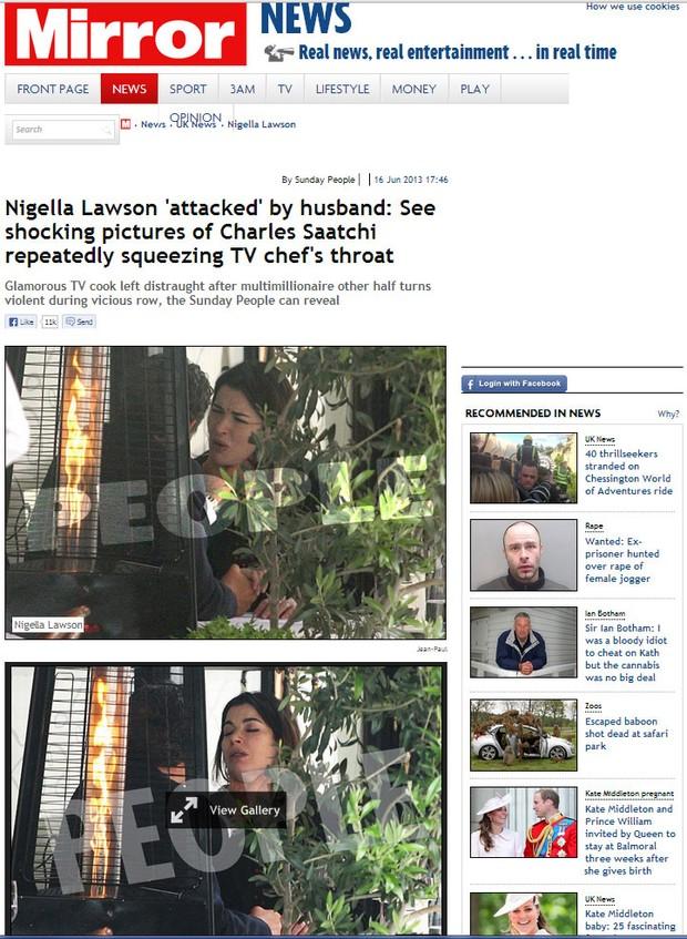 Nigella (Foto: Reprodução/Daily Mirror)