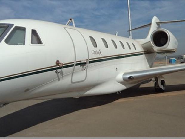 Avião da Igreja Universal do Reino de Deus apreendido em 2012 será leiloada em Viracopos  (Foto: Divulgação/ Receita Federal Viracopos)