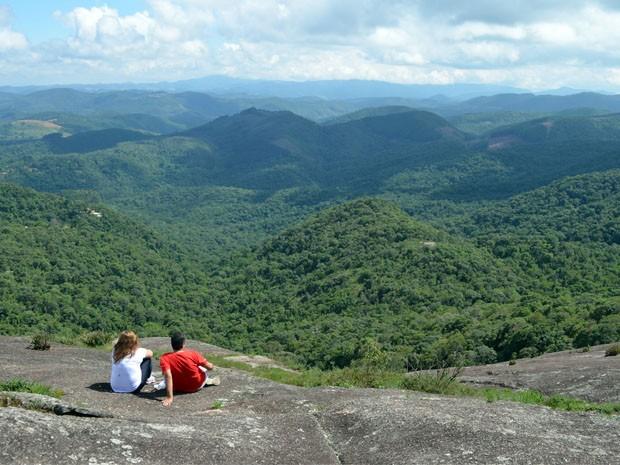 Trilhas levam a paisagens naturais maravilhosas em Monte Verde (Foto: Samantha Silva / G1)