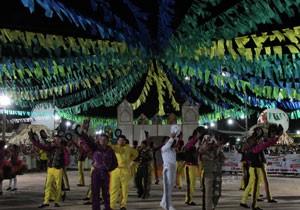 Quadrilhas disputam prêmio e reconhecimento em Piripiri (Foto: Katylenin França/TV Clube)