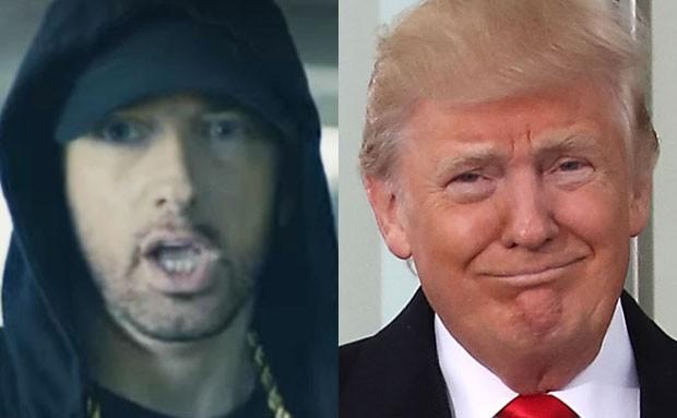 Eminem e Donald Trump (Foto: Reprodução e Getty Images)