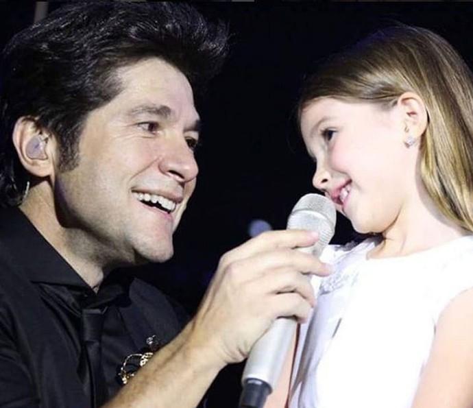 Lara adora participar do show de Daniel (Foto: Arquivo pessoal)