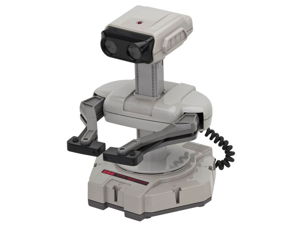 Robô ROB (Robotic Operating Buddy) era um companheiro para jogar games multiplayer que acompanhava o Nintendinho, lançado em 1985. (Foto: Divulgação/Arquivo Pessoal/Cleidson Lima)