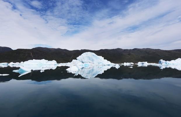 Pesquisadores estudam o derretimento das geleiras na Groenlândia (Foto: Joe Raedle/Getty Images)