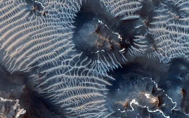 Imagem obtida pela sonda Mars Reconnaissance Orbiter, da Nasa, em 31 de agosto (Foto: Nasa/JPL/University of Arizona)