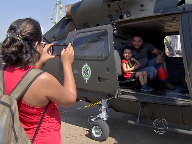 Exposição no Parque das Nações Indígenas mostra o dia a dia do soldado (Foto: Reprodução/TV Morena)