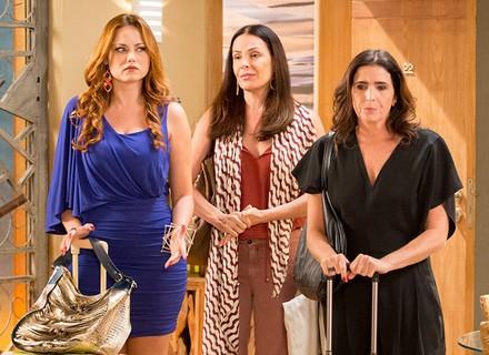 Personagens de Ellen Rocche, Malu Mader e Carolina Ferraz se conhecem em situação inusitada