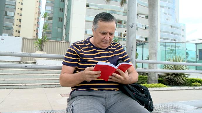 Edson Altoé estimula a literatura na Grande Vitória (Foto: Divulgação/ TV Gazeta ES)