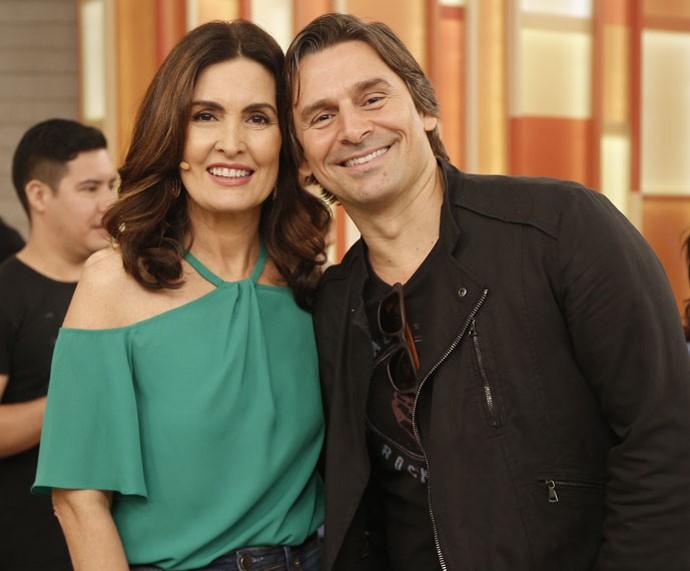 Fátima posa com o ator Murilo Rosa  (Foto: Rapahel Dias/Gshow)