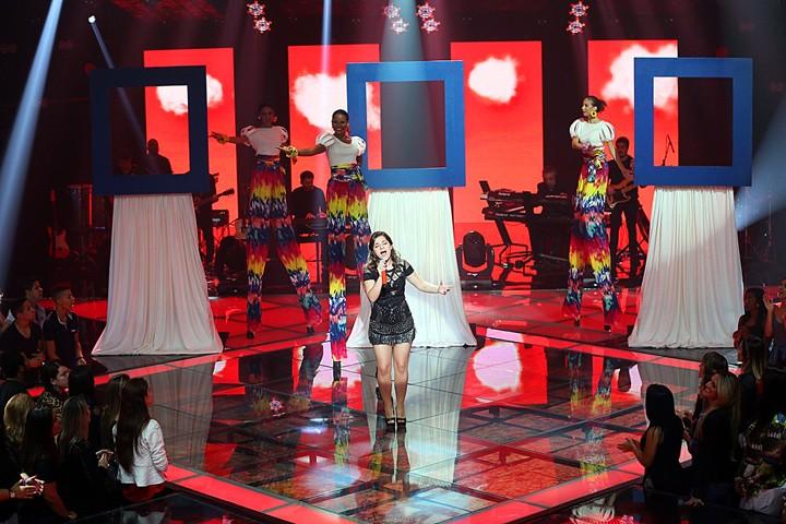 """Franciele Karen fez apresentação de """"Clarity"""" (Foto: Isabella Pinheiro/Gshow)"""