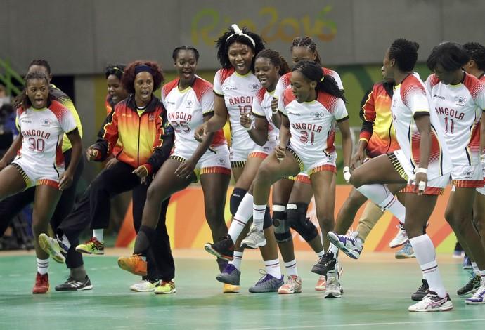 Seleção de Angola de handebol (Foto: AP)