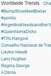 Trending Topics no Mundo às 17h12 (Foto: Reprodução/Twitter.com)