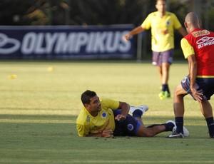 Diego Souza, Cruzeiro, treino, Toca da Raposa II (Foto: Washington Alves / Vipcomm)