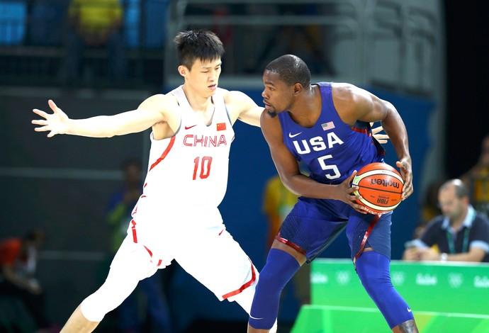 Kevin Durant, Estados Unidos X China Olimpíadas Rio 2016 (Foto: Agência Reuters)