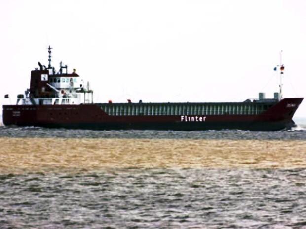 Navio vindo de Guiné aguarda na barra para entrar no Porto de Santos, SP (Foto: Reprodução/Praticagem SP)