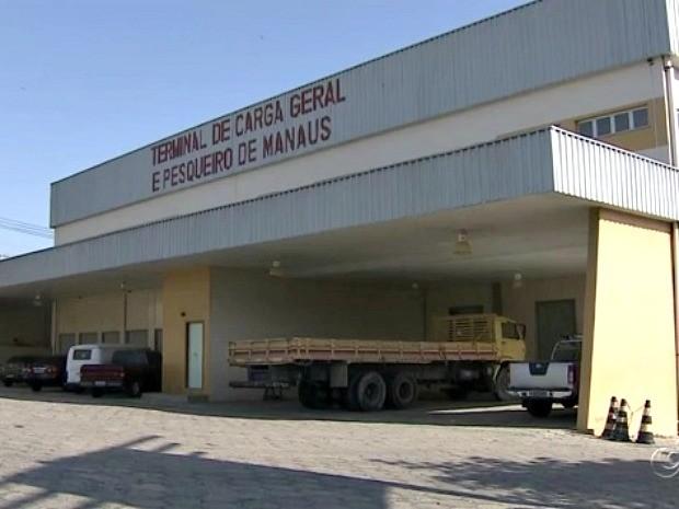 Quando inaugurado, terminal deverá ter capacidade para armazenar 200 toneladas de pescado (Foto: Reprodução/TV Amazonas)