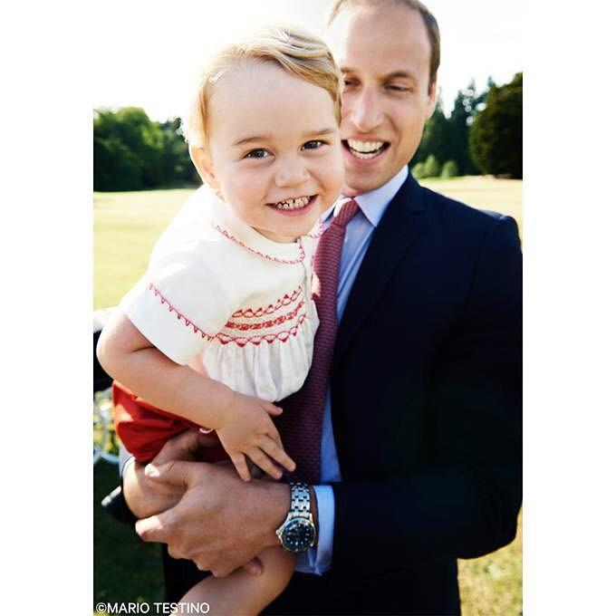 Príncipe George e Prínciupe William (Foto: Reprodução/Instagram)