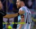 Messi xinga bandeirinha brasileiro após falta e fica na bronca até o fim do jogo