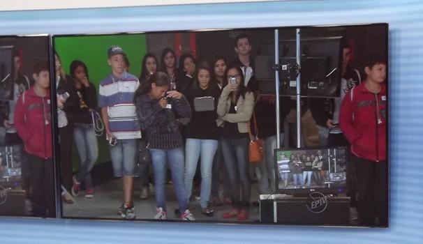Pré-selecionados participam de visita aos estúdios da EPTV Campinas (Foto: Bruno Alves / EPTV)