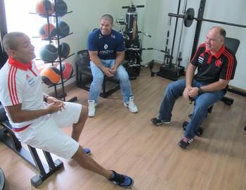 Anderson Pico, Toquinho e Claudio Pavanelli (Foto: Ivan Raupp)