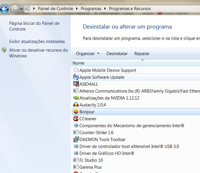 O excesso de programas é uma das principais causas da lentidão do PC (Foto: Reprodução/Henrique Duarte)