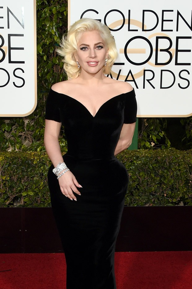 Lady Gaga no Globo de Ouro (Foto: Getty Images)