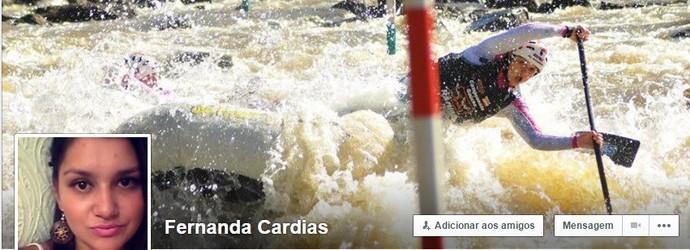 Fernanda Cardias canoagem rafting (Foto: Reprodução Facebook)