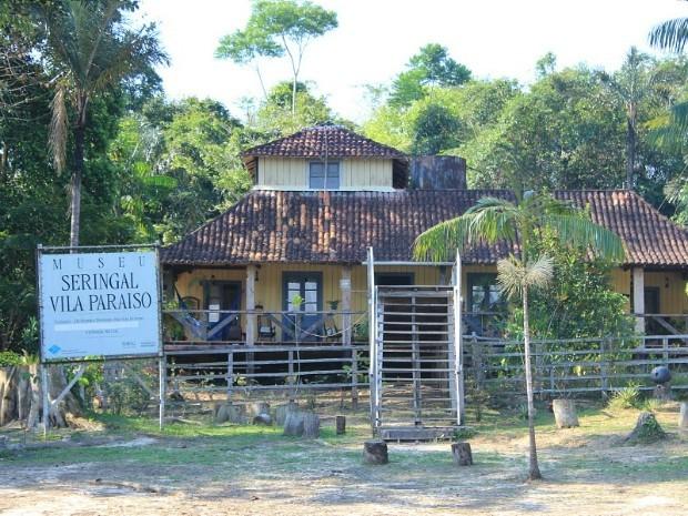 Museu do Seringal Vila Paraíso foi construído para as filmagens da obra 'A Selva' (Foto: Tiago Melo/G1 AM)