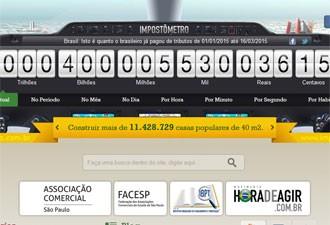Impostômetro atingiu a marca de R$ 400 bilhões nesta segunda (16) (Foto: Reprodução)