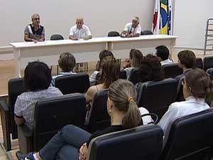 Reunião realizada nesta terça-feira (Foto: Reprodução/TV Integração)