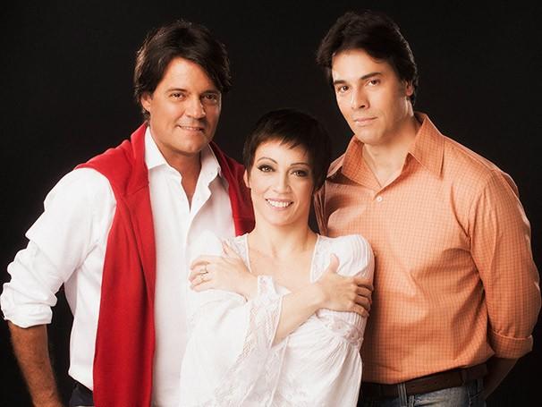 Felipe Camargo, Laila Garin e Claudio Lins (Foto: Divulgação)