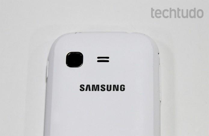 Câmera do Galaxy Pocket tem 2 megapixels (Foto: Isadora Díaz/TechTudo)