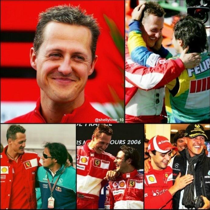 Felipe Massa parabéns Schumacher (Foto: Reprodução / Instagram)