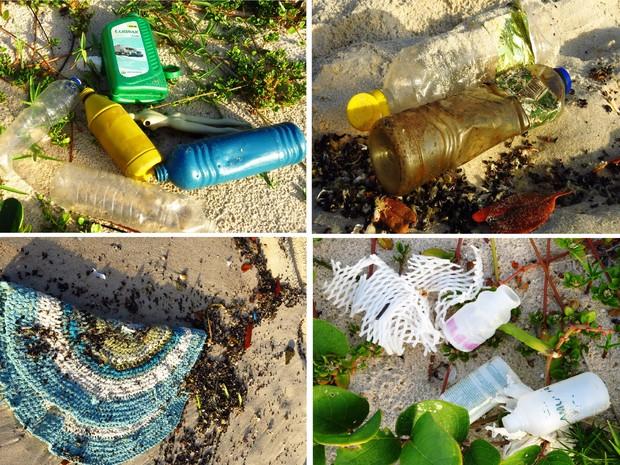 Mergulhadora e amante da natureza encontra lixo doméstico na Praia do Francês (Foto: Flavia Dabbur/Arquivo pessoal)