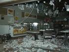 Vídeo mostra momento em que explosão destrói lanchonete na Bahia
