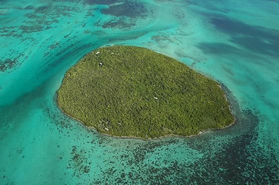 Vista aérea da Ilha das Garças no litoral de Maurício, no Índico  (Foto: © Haroldo Castro/ÉPOCA)