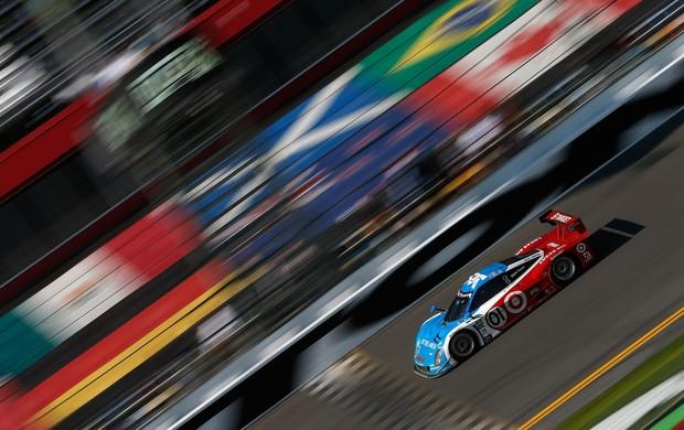 Carro de Juan Pablo Montoya, vencedor da edição 2013 das 24 Horas de Daytona (Foto: Agência Getty Images)