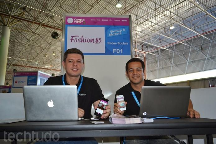 Dupla do Fashion85 é de Fortaleza, Ceará, e investiu em moda para inovar (Foto: TechTudo/Melissa Cruz)