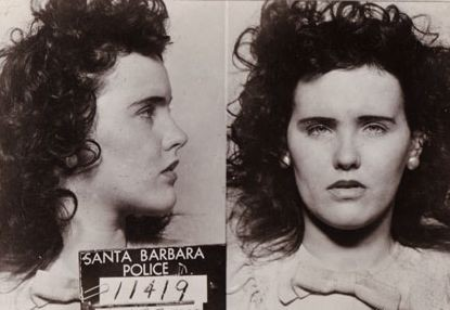 Elizabeth Short em foto da polícia do estado da Califórnia (Foto: Reprodução /  Morgan Korzik - Black Dahlia)