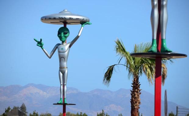 Baker fica em região de deserto no estado da Califórnia (Foto: Frederic J. Brown/AFP)